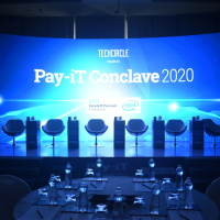 The stage is all set to welcome guests for the Pay-iT Conclave 2020